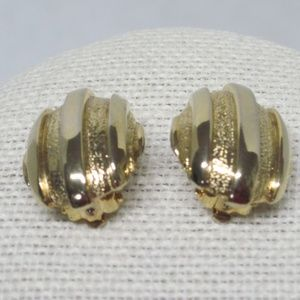 Givenchy Gold Clip-on Earrings Vintage